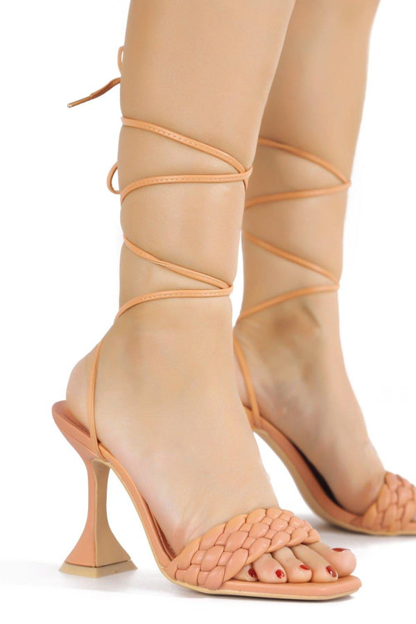 CURVE THE LESS YOU KNOW LACE UP SANDAL-CORAL