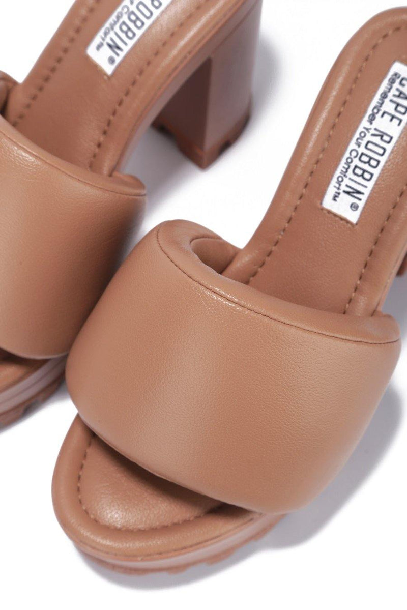 DELTA WHAT THE CHECK SAY PLATFORM MULE-TAN