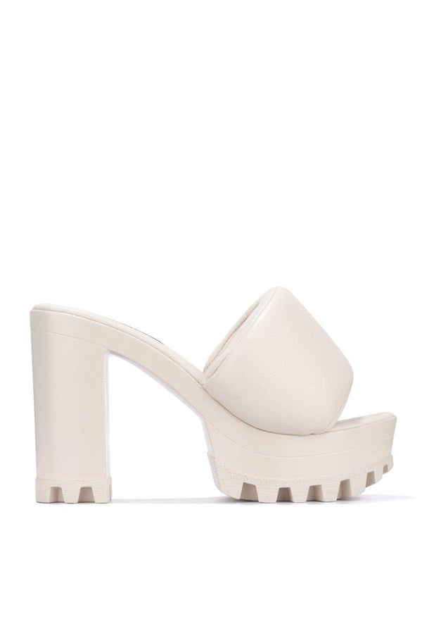 DELTA WHAT THE CHECK SAY PLATFORM MULE-BEIGE