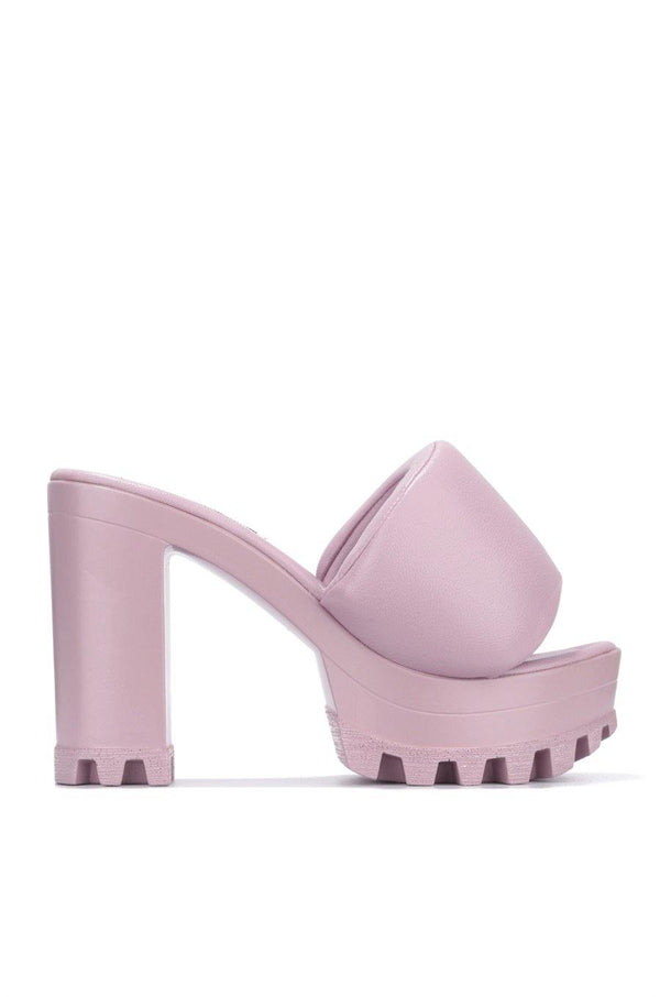DELTA WHAT THE CHECK SAY PLATFORM MULE-MAUVE