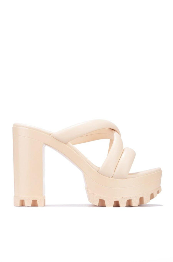 DAREME CALM THE NERVES PLATFORM MULE-BEIGE