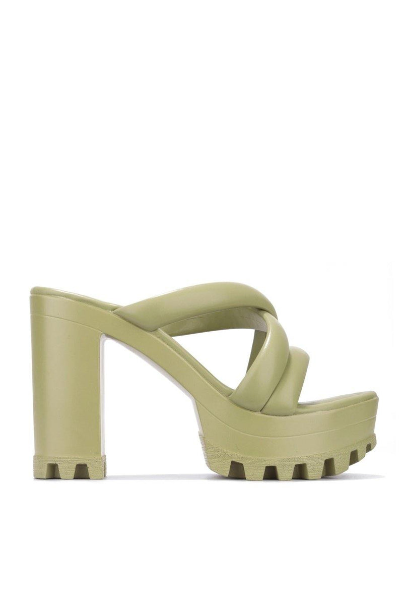 DAREME CALM THE NERVES PLATFORM MULE-OLIVE