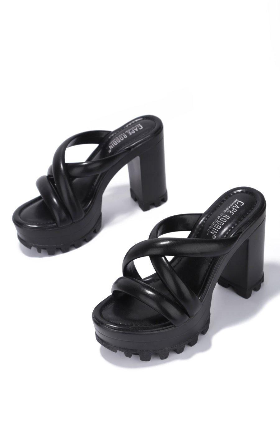 DAREME CALM THE NERVES PLATFORM MULE-BLACK
