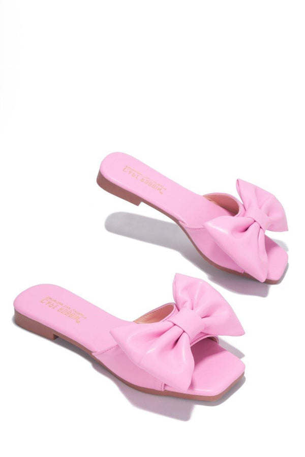 JUJU THAT BOW THOUGH BOW SLIDE SANDAL-LIGHT PINK