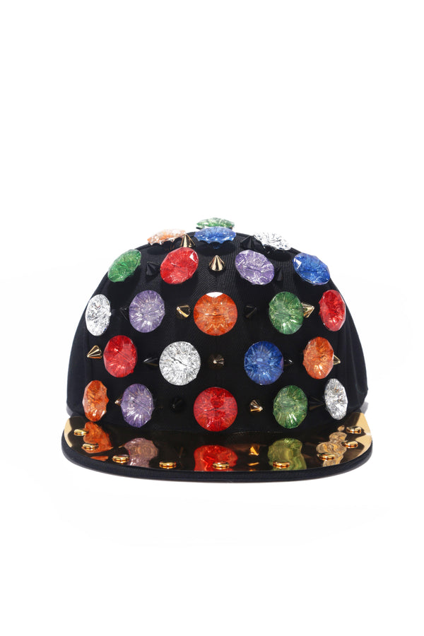 MULTIVERSE RAINBOW RHINESTON HAT-MULTI COLOR