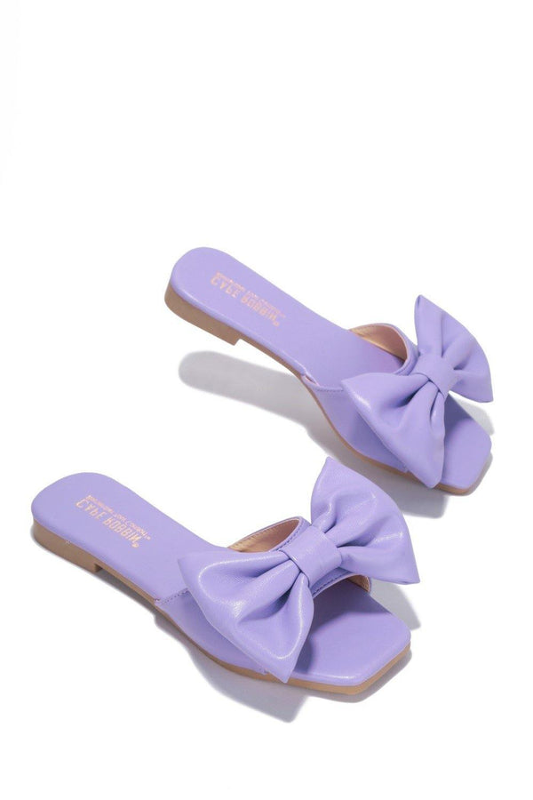 JUJU THAT BOW THOUGH BOW SLIDE SANDAL-LILAC