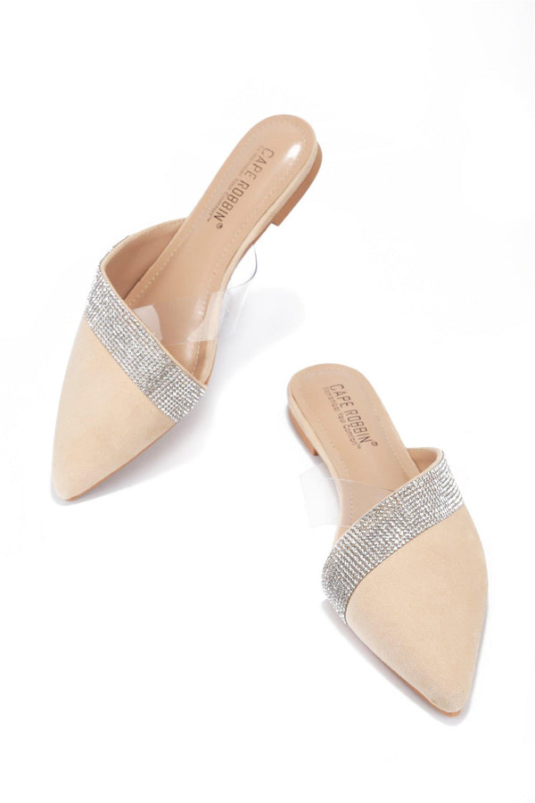 CICI FOREVER YOURS RHINESTONE FLATS-NUDE