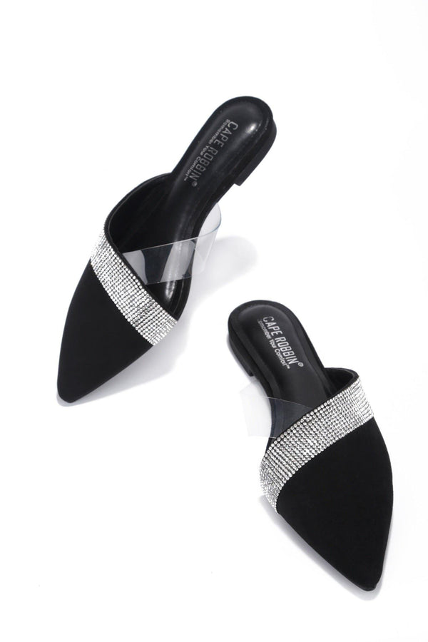 CICI FOREVER YOURS RHINESTONE FLATS-BLACK