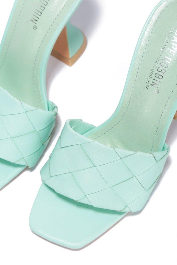 AFFECTION AND LOVE HEELED SANDAL-MINT