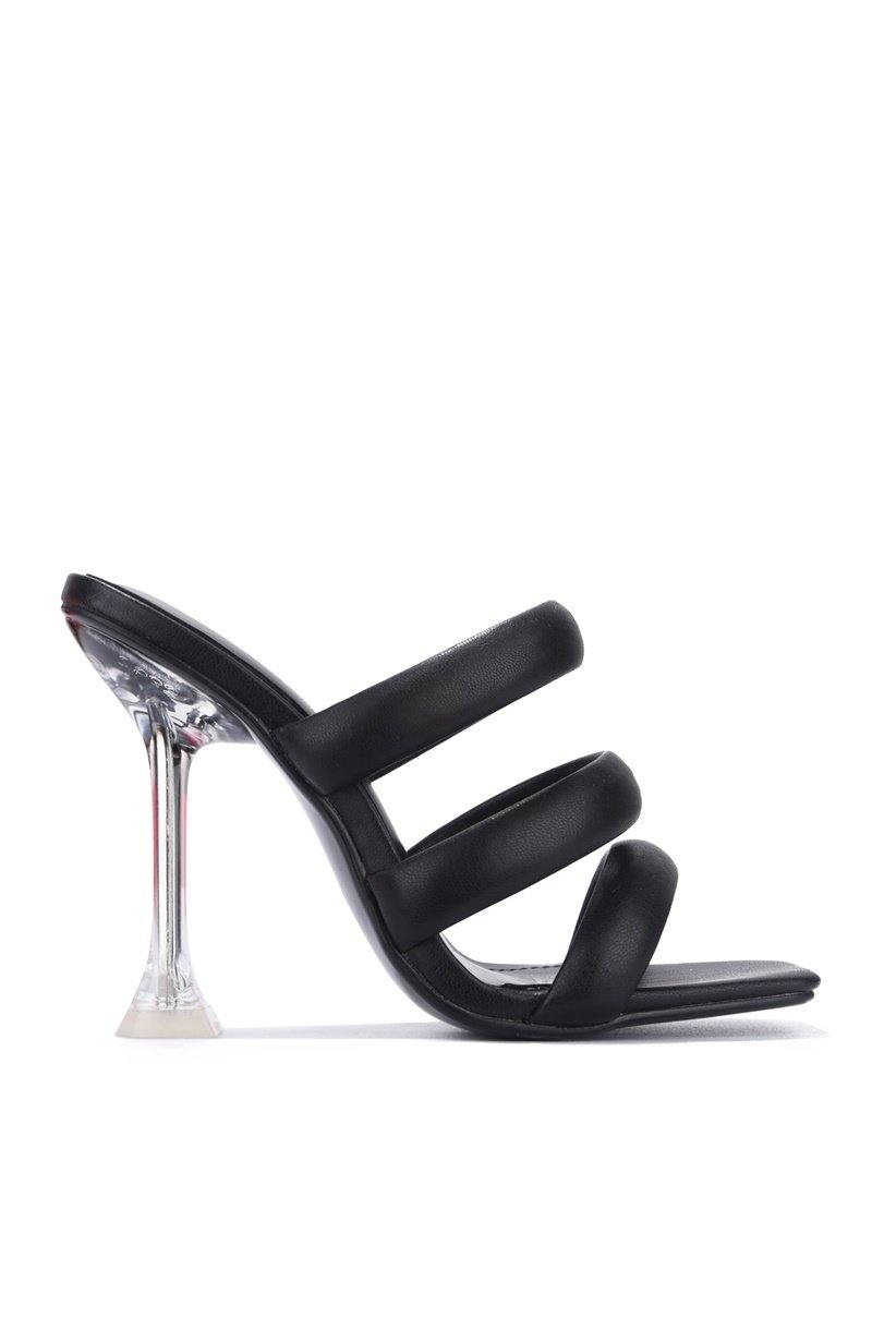 AKIMBO AND MY BOO HEELED SANDALS-BLACK