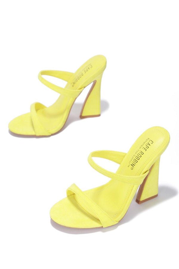 ANOTHER LOVER HERE BLOCK HEELS-YELLOW