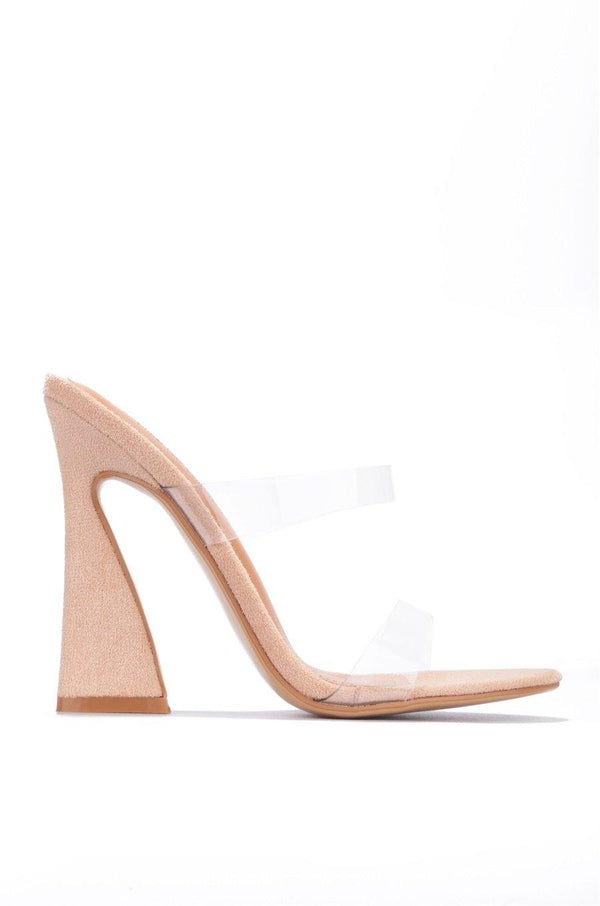ANOTHER LOVER HERE BLOCK HEELS-NUDE