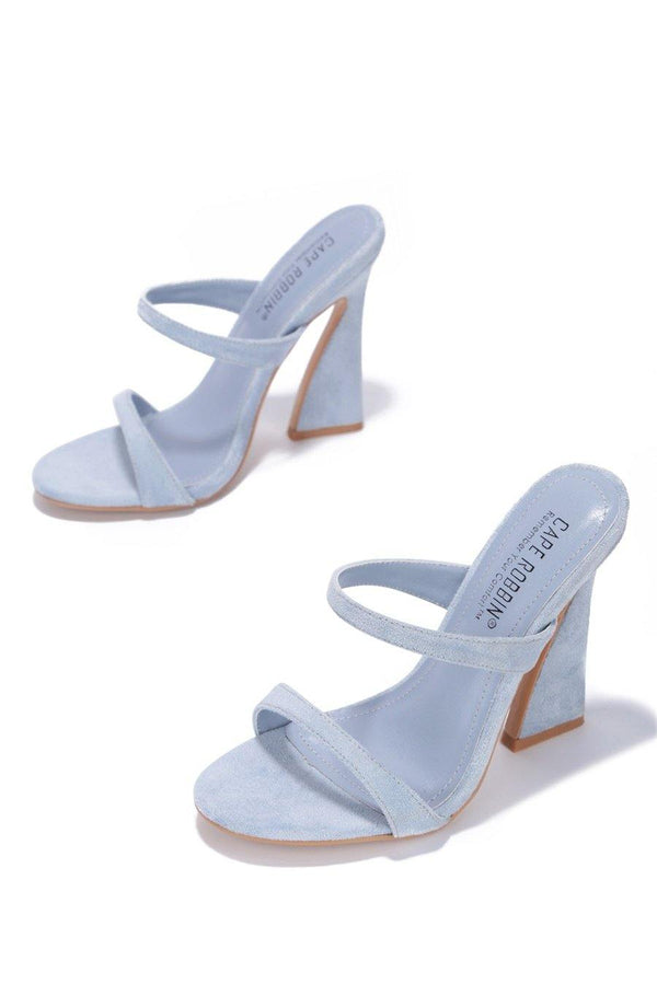 ANOTHER LOVER HERE BLOCK HEELS-BLUE