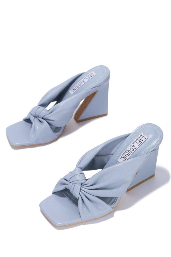 ANNI AM TELLING YOU BLOCK HEELS-BLUE
