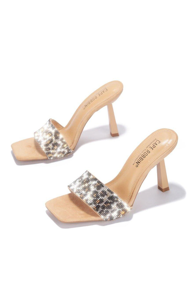 HOLLYMOOD AND HIGHLAND PARK HEELED SANDALS-NUDE