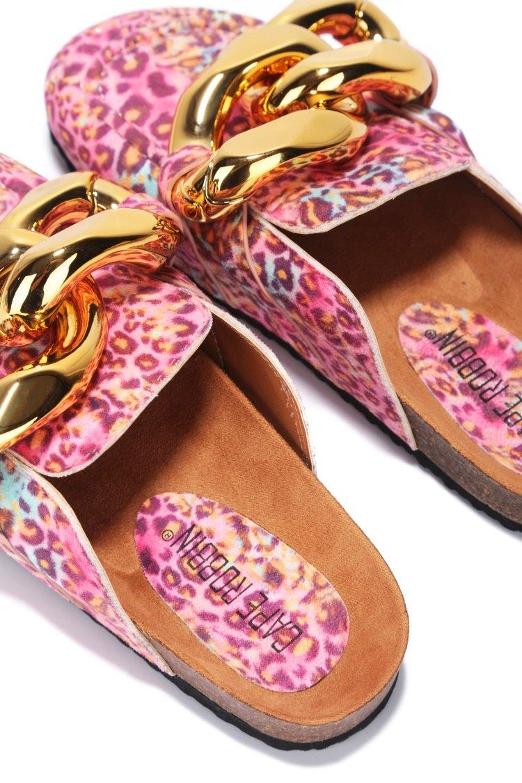 COLINDA MY SOLE COMFORT SANDALS-LEOPARD