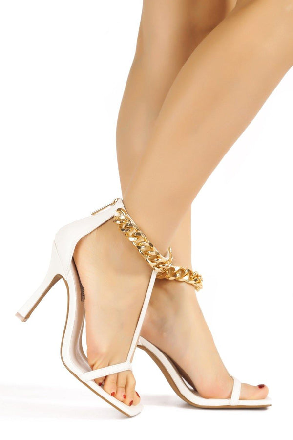 EVER IN YOUR FAVOR SANDAL HEELS-WHITE