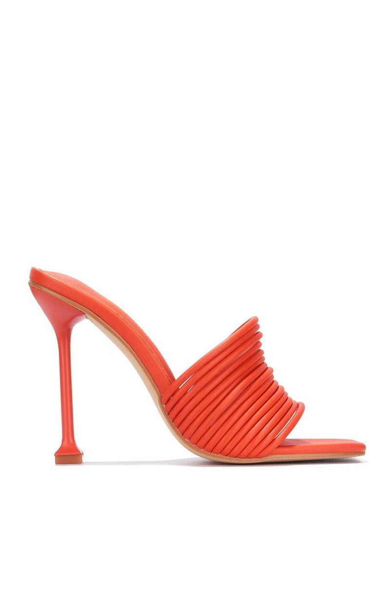 MEXMON BELIEVING IT SANDAL HEELS-ORANGE