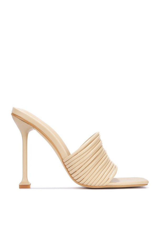 MEXMON BELIEVING IT SANDAL HEELS-NUDE