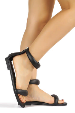 OYEA THAT'S MY BESTIE SANDALS-BLACK