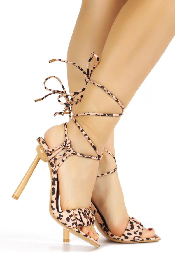 POPS UP THE BUBBLY SANDAL HEELS-LEOPARD