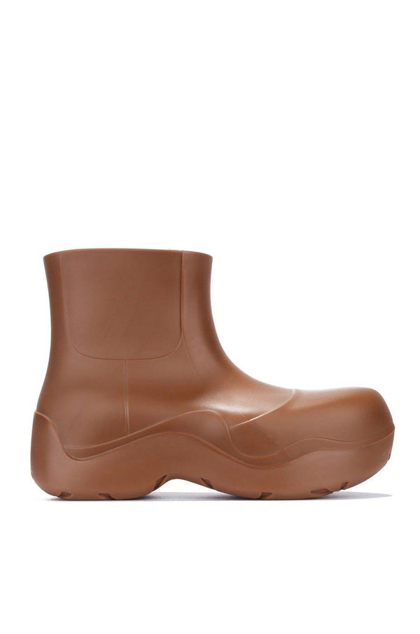 RAINDROPS DROP TOPS RAIN BOOTS-TAN
