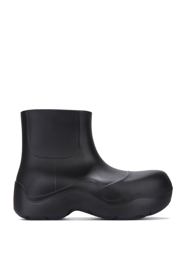 RAINDROPS DROP TOPS RAIN BOOTS-BLACK
