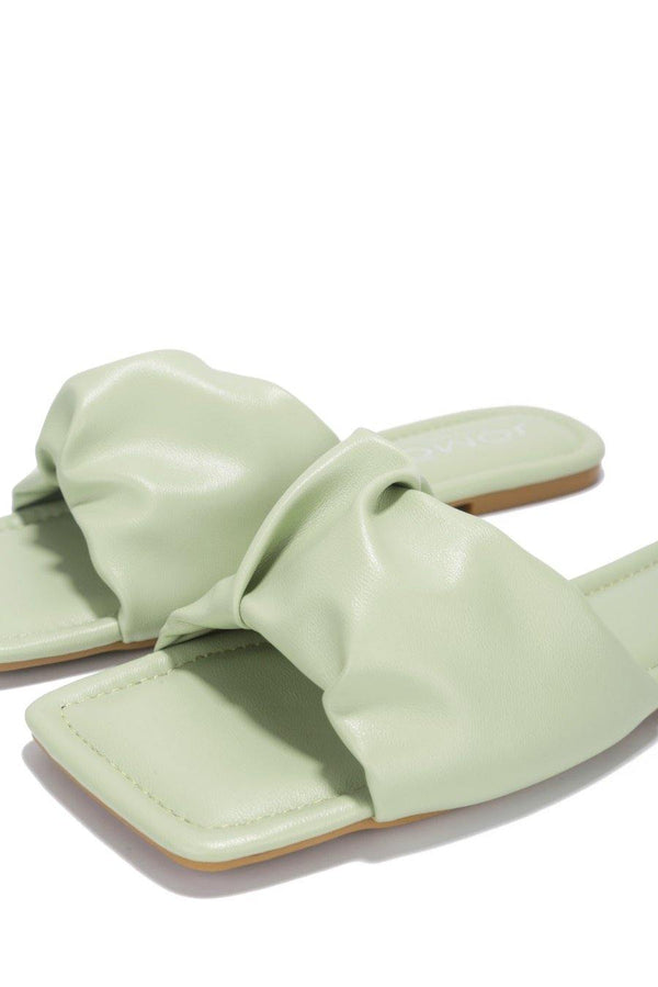RANGOON I DON'T WANT NO SCRUBS FLAT SANDALS- SAGE