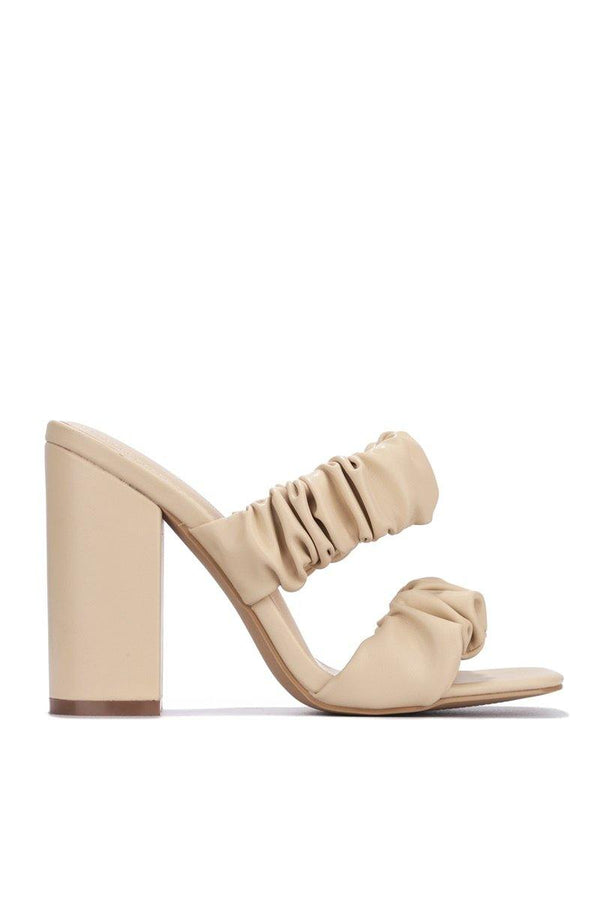 RIEDEL RIDIN HIGH BLOCK HEELS-NUDE