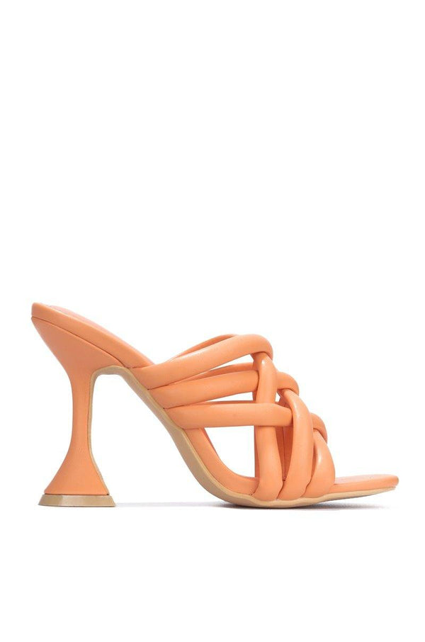 RIVER ALL OVER TOWN BLOCK HEELS-ORANGE