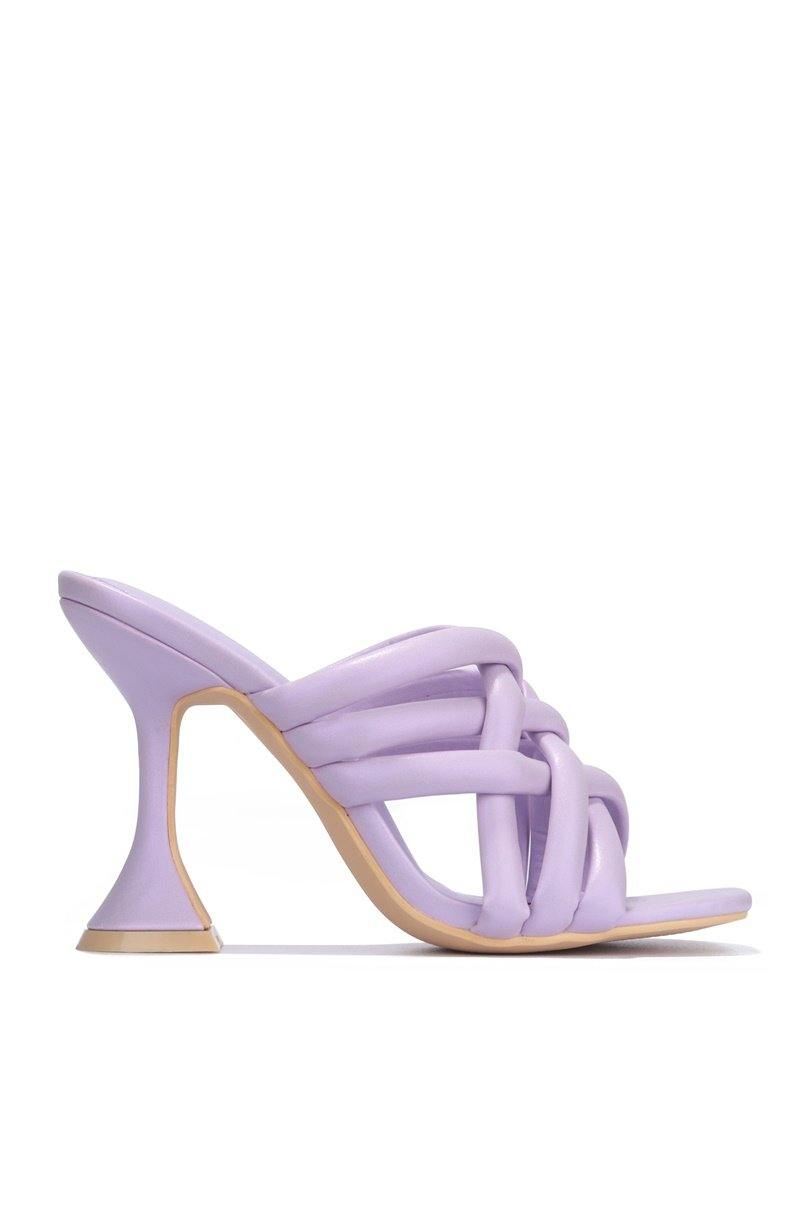 RIVER ALL OVER TOWN BLOCK HEELS-LILAC