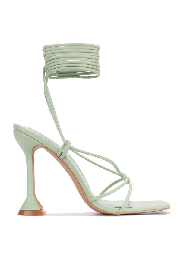 SCUBA TIME TO DIVE IN SANDAL HEELS-SAGE