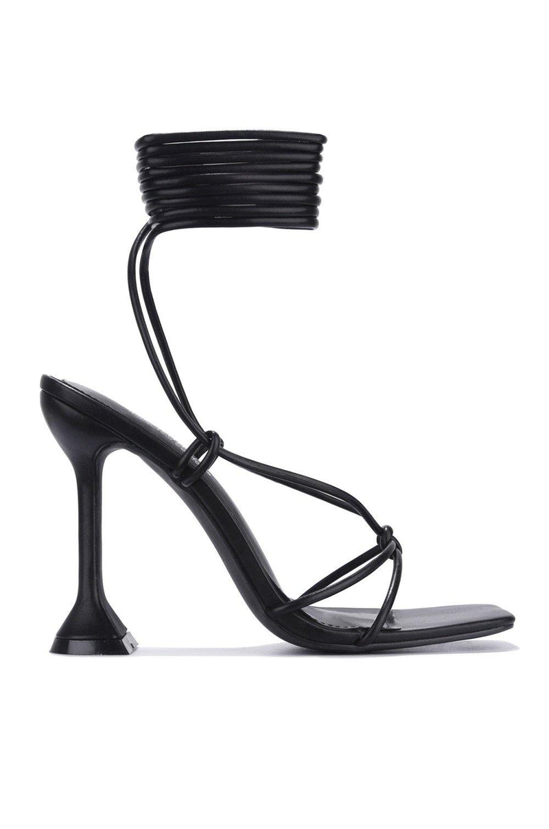 SCUBA TIME TO DIVE IN SANDAL HEELS-BLACK