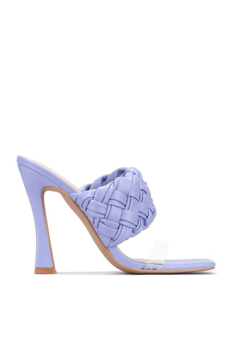 TREMBLE AND BASS SANDAL HEELS-PERIWINKLE