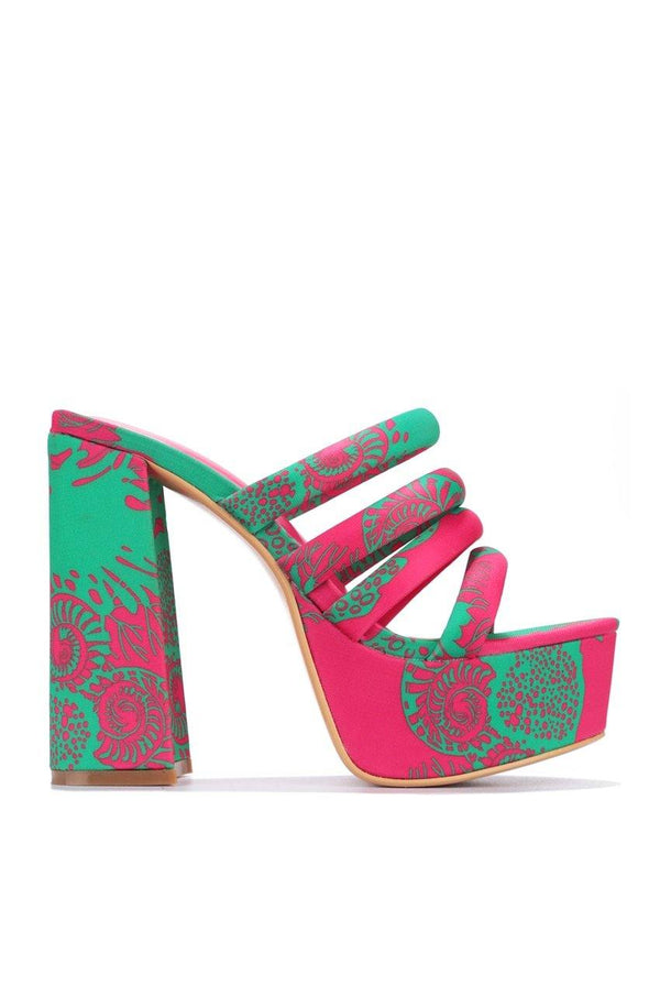 VOLCANOE YOU BETTER DO BLOCK HEELS-PRINT