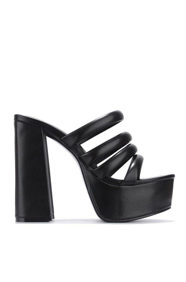 VOLCANOE YOU BETTER DO BLOCK HEELS-BLACK