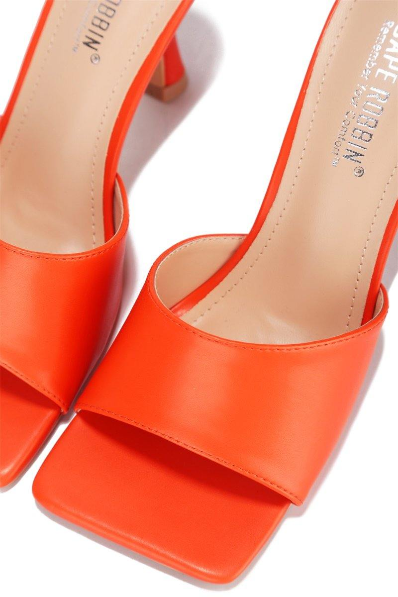 TOWN SQUARE CITY WALK HEELS-ORANGE