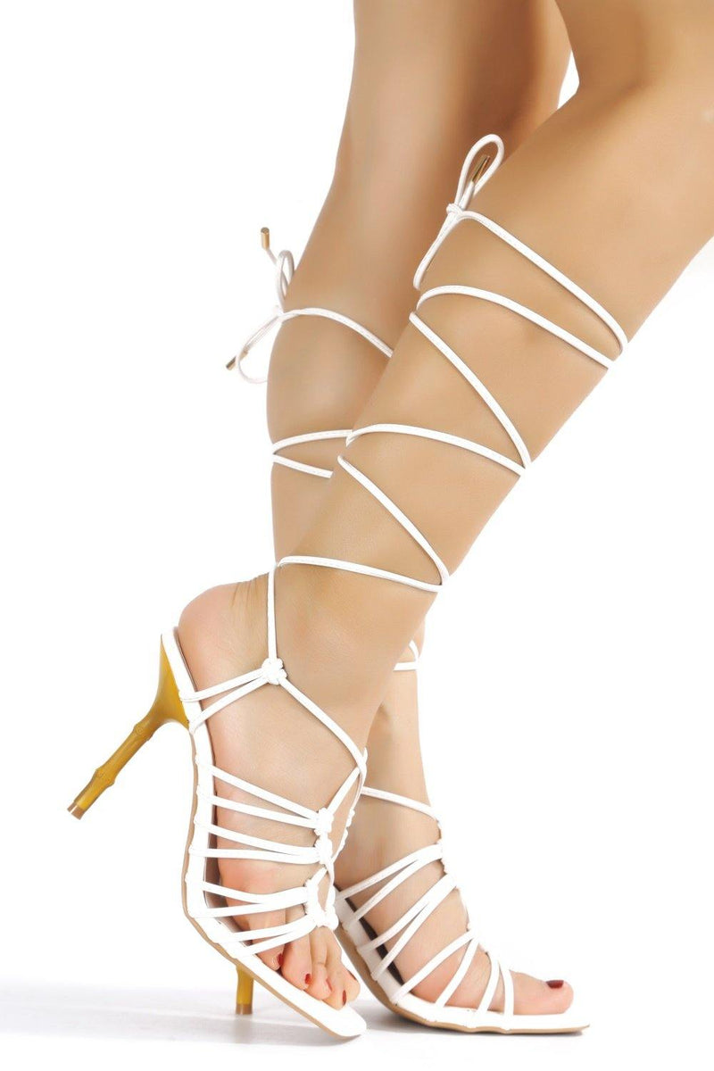 SOAN CAME AND CONQUERED SANDAL HEELS-WHITE