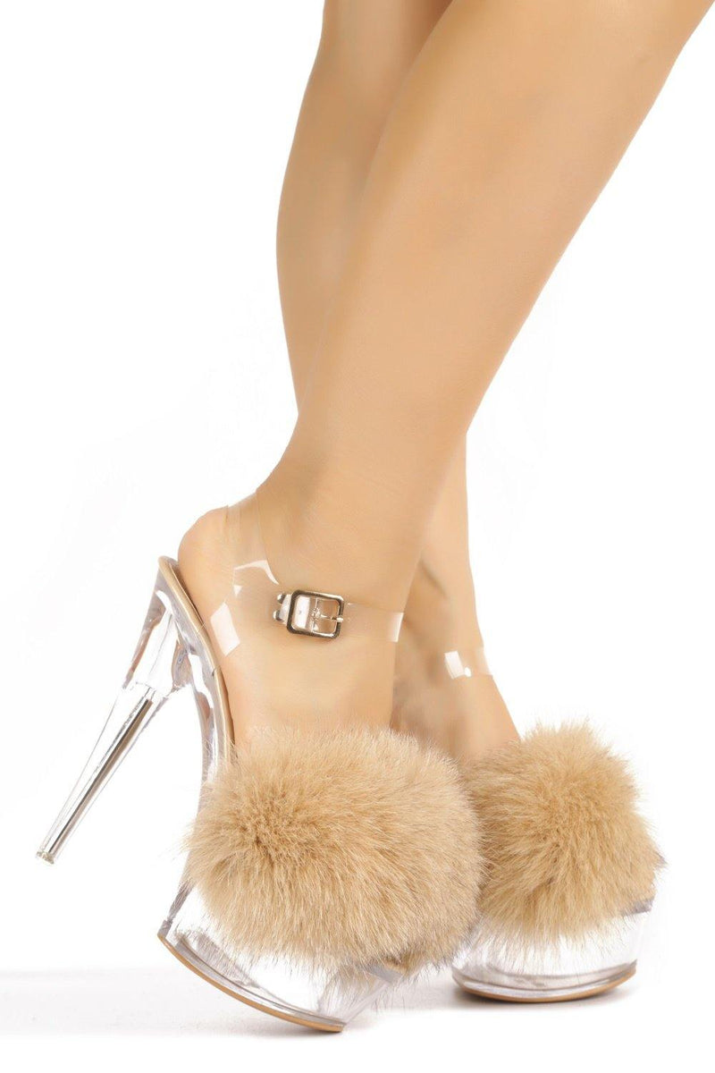 SUKI ON ANOTHER LEVEL PLATFORM HEELS-NUDE