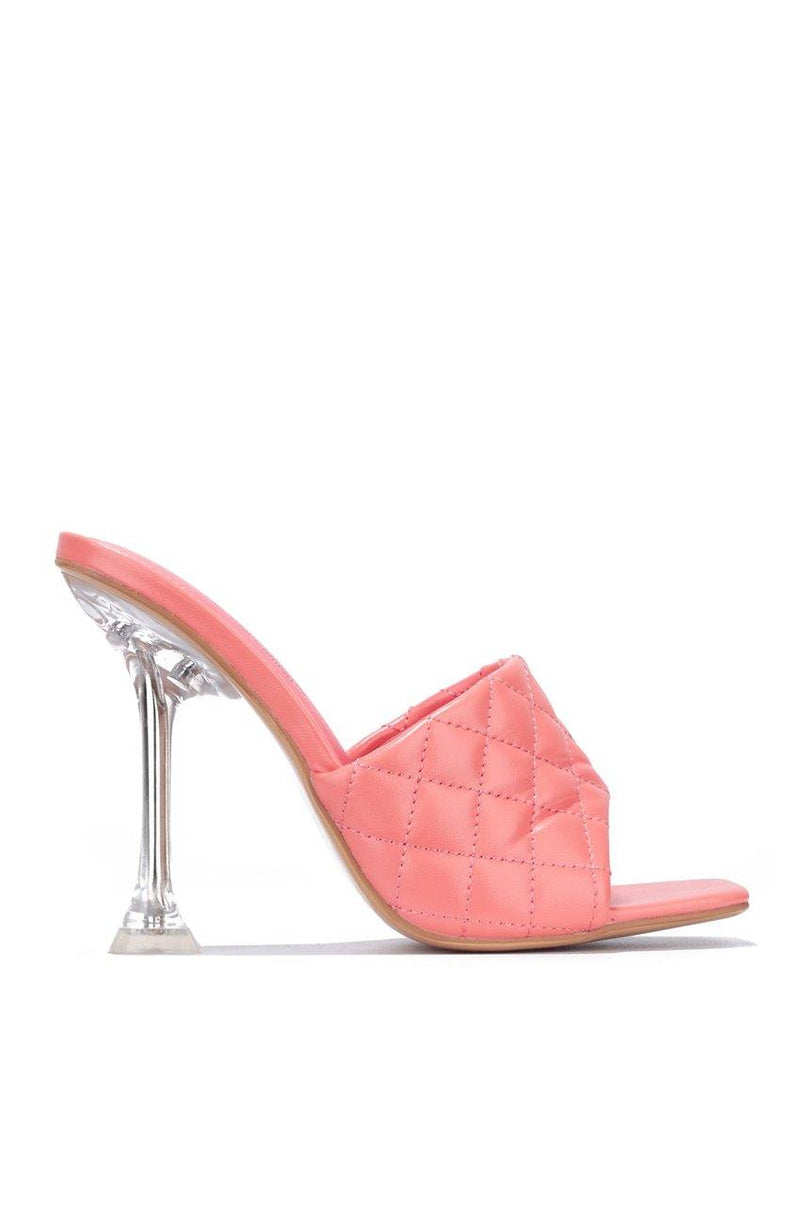RAFA AROUND THE EDGES SANDAL HEELS-CORAL