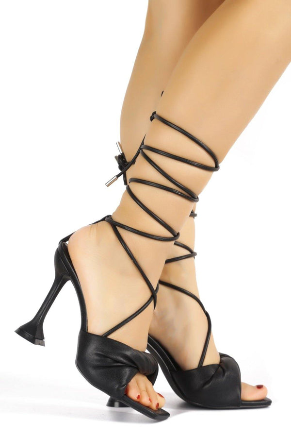 SENDAD CAN'T WAIT TO MEET YOU SANDAL HEELS-BLACK
