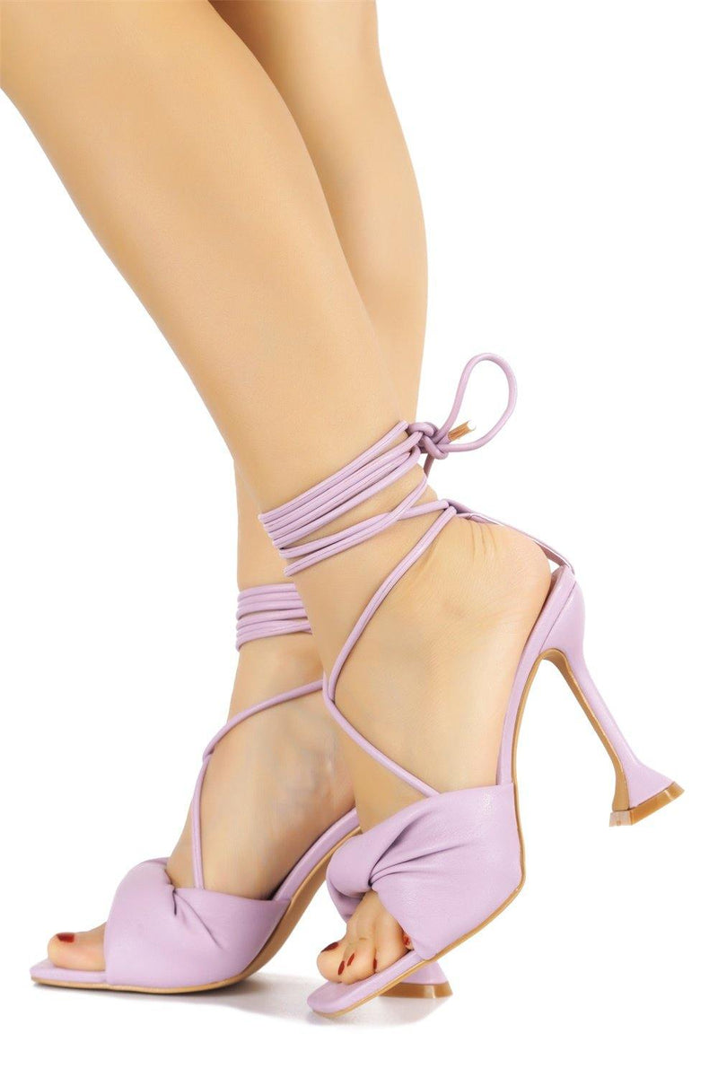 SENDAD CAN'T WAIT TO MEET YOU SANDAL HEELS-LILAC