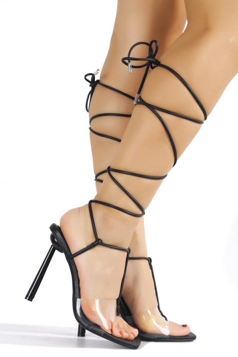 HOLI OUT OF OFFICE SANDAL HEELS-BLACK