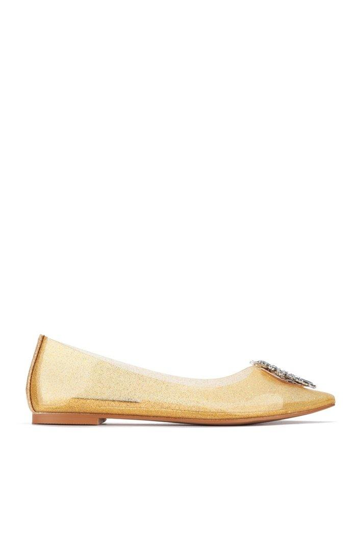 VALERIA PUT IT ON FLATS-GOLD