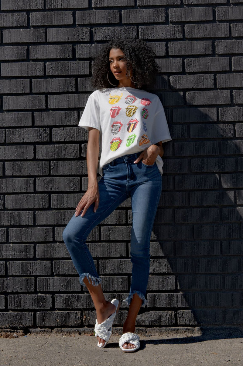 LIPS FOR DAYS GRAPHIC T-SHIRT-WHITE