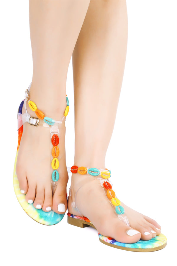 ISMAY SHELL SANDALS-MULTI