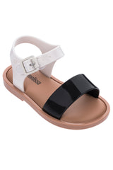 MINI MEL MAR SANDAN-BLACK/WHITE