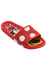 MINI MELISSA MICKEY BEACH SLID-RED