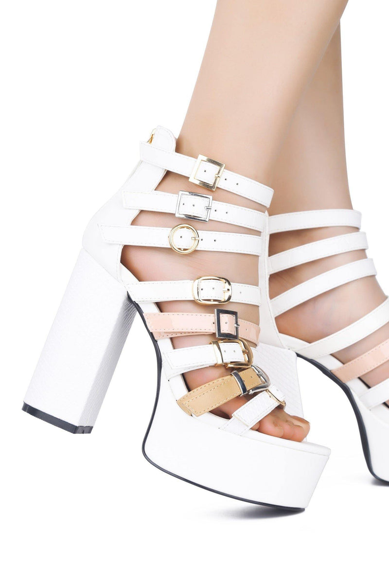 MIRACLE LITTLE SURPRISE HIGH HEELS-WHITE