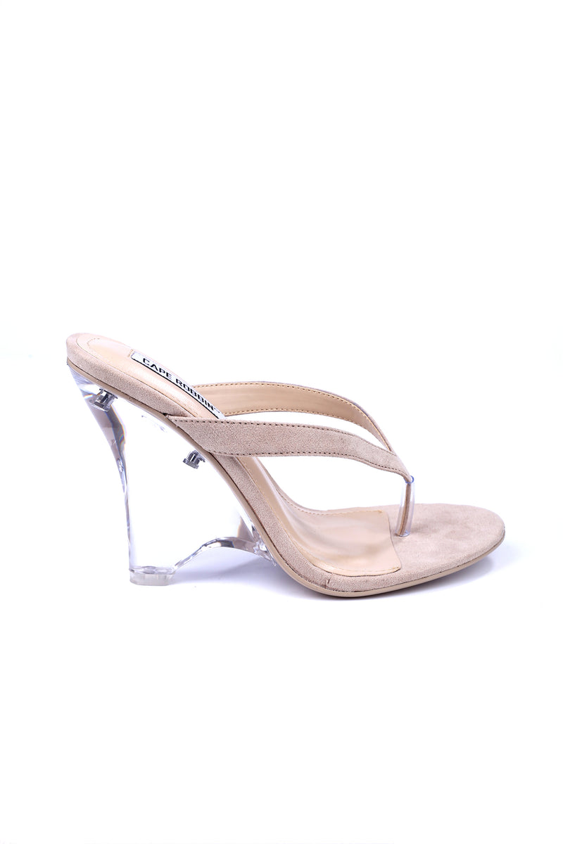 SPECTACULAR HARD TO FORGET HEEL MULE-NUDE